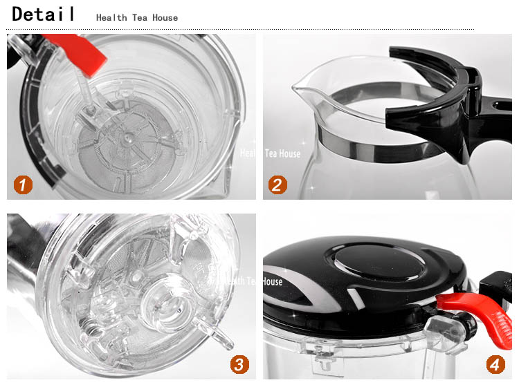 heat resistance glass tea pot